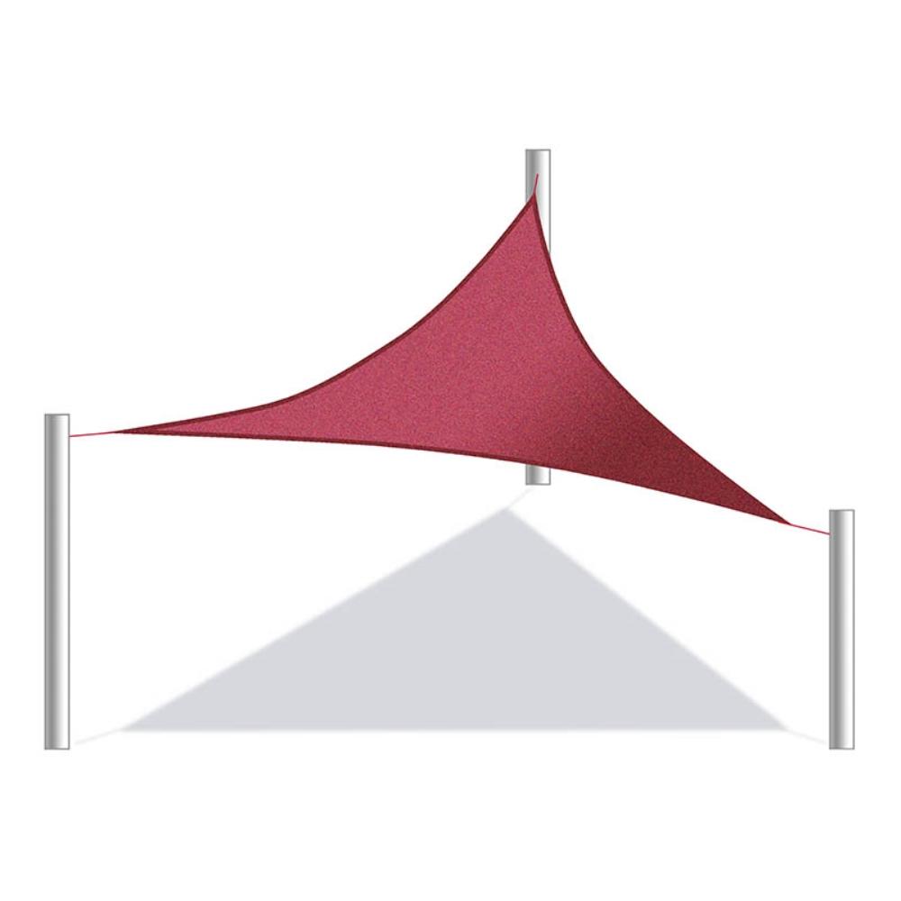 ALEKO Waterproof Sun Shade Sail Square 18x18 Ft Canopy Tent